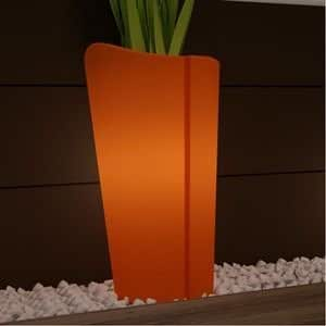 Cache Pot Lumineux Mercutio, orange, Haut 100cm