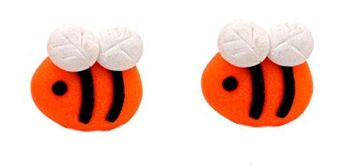 Super Cute Bumble Bee große Ohrstecker Ohrringe handgemacht unter Verwendung Polymer Clay für Kinder oder Erwachsene (in Organza Tasche) -