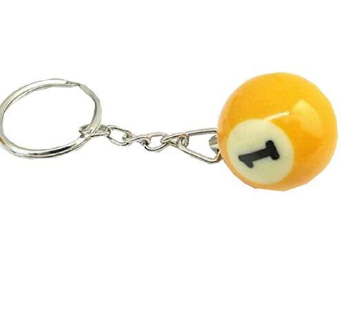 (NR.1) Schlüsselanhänger mit Anhänger - Billardkugel - Anzahl - Pool Billard - Geschenkidee - Mann - Frau - Unisex