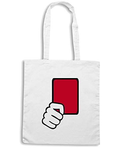 T-Shirtshock - Borsa Shopping OLDENG00215 referee red card kids Bianco