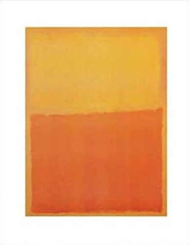 Mark Rothko - Orange and Yellow Poster Drucken (27,94 x 35,56 cm) -