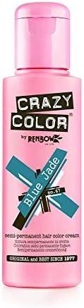 Crazy Color Renbow Semi-Permanent Hair Colour Cream Dye 100ml-Blue Jade