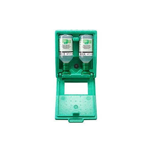 Augenspülstation in Wandbox, staubdicht, mit Spiegel, leicht und schnell zu öffnen, Spülzeit ca. 10 Minuten