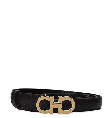 2987d84703 Salvatore Ferragamo Cintura Donna 0675180 Pelle Nero - Italy Fashion