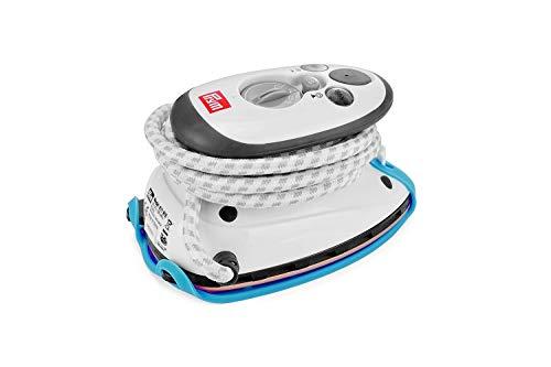 Prym Dampfbügeleisen Mini inkl. BabySnap Reisebügeleisen-Ablage (hellblau)