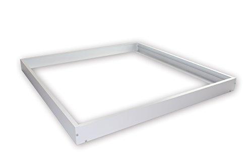 Preisvergleich Produktbild Linnuo® Aluminium Aufbaurahmen / Aufputz-Rahmen für LED Panel,  1200x300mm,  120x30cm,  Weiß (Aufbaurahmen 1200x300) (1200x300)