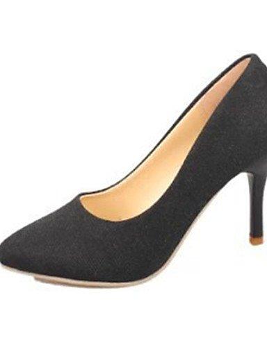 GS~LY Damen-High Heels-Lässig-PU-Stöckelabsatz-Absätze-Schwarz / Gelb / Rot / Grau gray-us5.5 / eu36 / uk3.5 / cn35