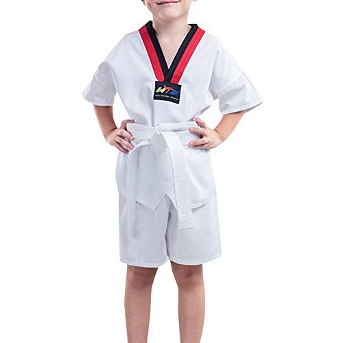 Daytwork Kampfsport Bekleidung Unisex Kinder Erwachsene Dobok Taekwondo Gi Sets - Judo Kung Fu Training Wettkampf Anzug Leistung Uniform Outfit Karate Polyester -