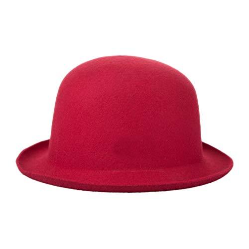 Wollfilz Upturn Krempe Fedora Hüte Outdoor Fashion Classic Vintage Trilby Hut Jazz Cap Sonnenhut für Frauen -