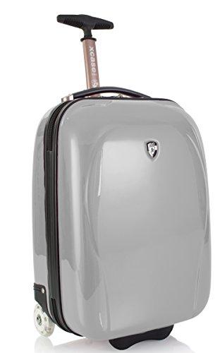 ... 50% SALE ... PREMIUM DESIGNER Hartschalen Koffer - Heys Core XCase Mini Blau - Handgepäck Silber
