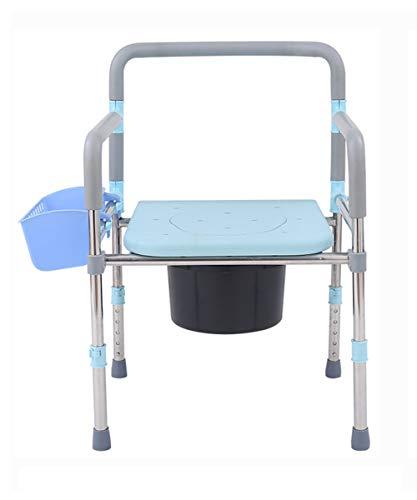 LILYSHOP Folding Commode, WC-Sitz Klappstuhl mit Deckel