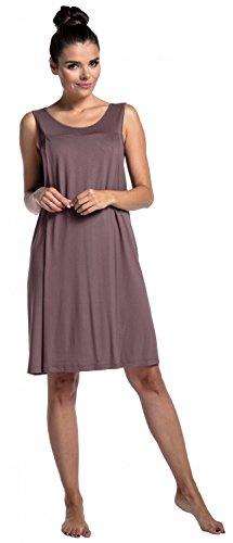 Zeta Ville - Schwangere Still-Nachthemd ohne �rmeln Umstandsmode - Damen - 994c Cappuccino