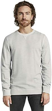 Tom Tailor Men's Overdyed Regular Round Collar Long Sleeve Sweats