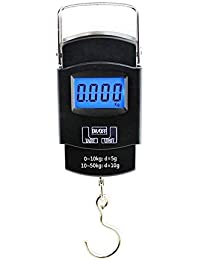 MOM'S GADGETS Fishing Hanging LCD Screen 110 lb/50 kg Portable Electronic Digital Postal Hook Luggage Shopping Spring Scale