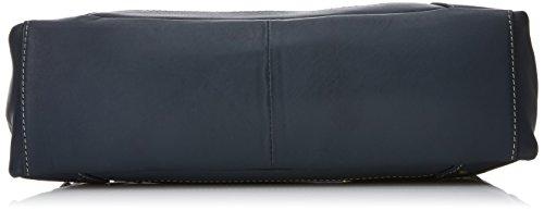 """Lederhandtasche """"Carnaby"""" von Catwalk Collection - GRÖßE: B: 33 H: 13 T: 9 cm Blau"""