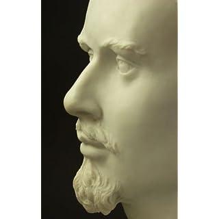 König Ludwig II Bayern Büste ausdrucksstark aus Alabaster Marmor