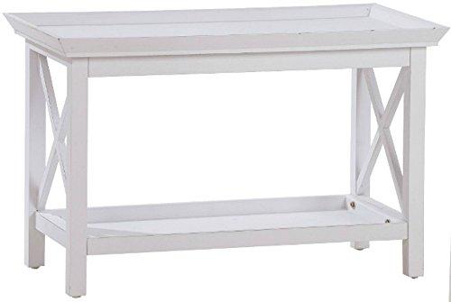 elbmöbel Couchtisch Tisch weiß antik Holz 80x40cm Landhaus Tisch Country NEU Holztisch
