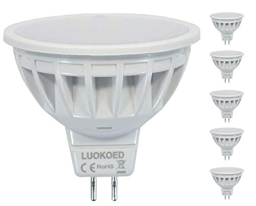 Bombilla Mr16 LED Foco 500lm Equivalente a 50W Luz Blanca Natural 4000K...