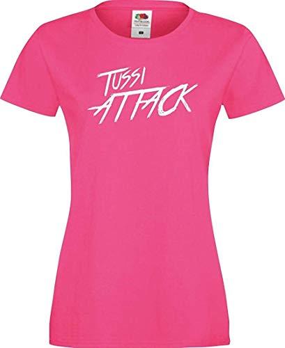 Shirtinstyle Lady T-Shirt Tussi Attack,Fuchsia, M
