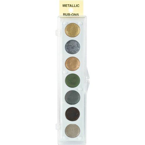 Rub-art-kit (Metallic Rub-On Paint Palette - 7 Colors-Kit #2)