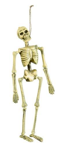 Anatomisches Skelett Kostüm - Widmann 6877K - Deko Skelett Mini, Circa 40 cm