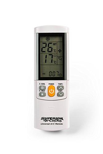 Superior electronics airco plus, telecomando universale per condizionatori d'aria, bianco