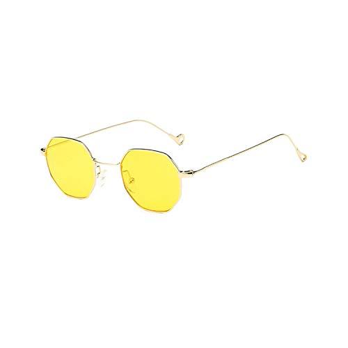 Sport-Sonnenbrillen, Vintage Sonnenbrillen, NEW Women Hexagon Sunglasses Retro Vintage Clear Sun Glasses For Men Luxury Metal Eyewear Octagon Shades Lunette 10