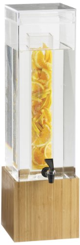 Cal-Mil 1527-3INF-60 Bamboo 3 Gallon Infusion Beverage Dispenser by Cal Mil 3 Gallon Beverage Dispenser