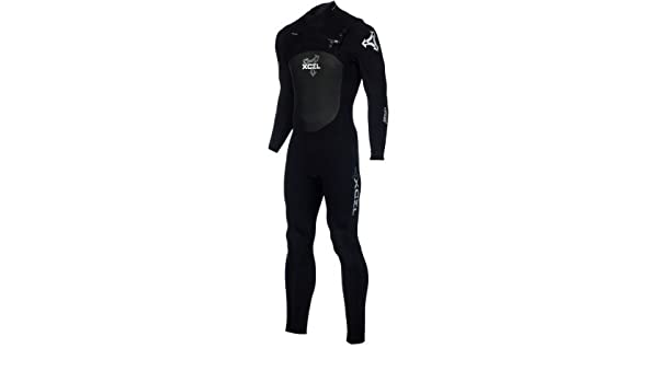 9931326ea6 XCEL Hawaii 4/3 Drylock Wetsuit - Men's All Black/Silver, XLS ...