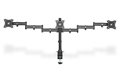 """DIGITUS 3-Fach Monitor Ständer / Klemmhalterung für 15\""""-27\"""" Monitore, schwenkbar, neigbar, rotierbar, schwarz"""