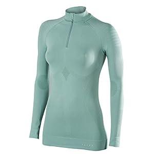FALKE Damen Maximum Warm Longsleeved Zip-Shirt Tight Fit Sportunterwäsche
