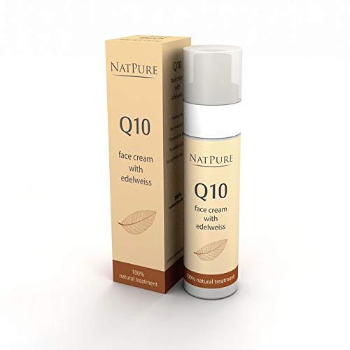 Q10 Creme NatPure Naturkosmetik Tagescreme für Männer & Damen Anti Aging Feuchtigkeitscreme, Soforteffekt Anti Falten Nachtcreme, Gesichtscreme handgemacht für trockene, sensible Haut & Mischhaut