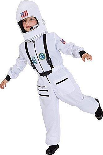 en Mädchen Astronaut Spaceman Buzz World Book Day Week Weltraum Kostüm Kleid Outfit - Weiß, 3-6 Years (EU 104/116cm) ()
