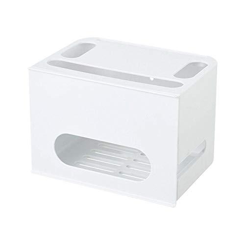 Design-router (KIOPS Router Aufbewahrungsbox, Doppelschicht Set-top Box Regal Für Desktop Wireless WiFi Draht Lagerung Finishing Box Funktionale Lagerung Regal)