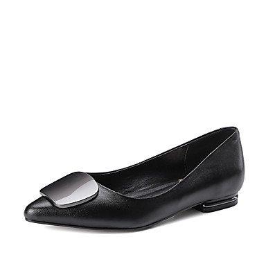 Confortevole ed elegante piatto scarpe donna Appartamenti Primavera Estate Autunno altri cuoi Office & Carriera Abbigliamento Sportivo tacco piatto nero rosso grigio altri Red