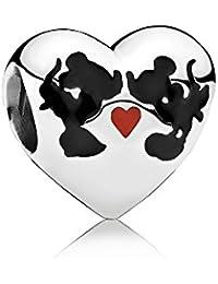 eac895bd446b PANDORA - Charm en plata de ley Beso de Mickey   Minnie - 791443ENMX