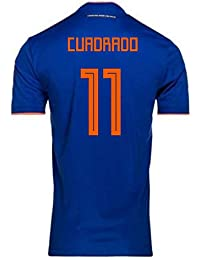 UKSoccershop 2018-2019 Colombia Away Adidas Football Shirt (Cuadrado 11)