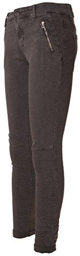 BASIC.de, Pantaloni aderenti, modello Biker Anthrazit Zippertaschen