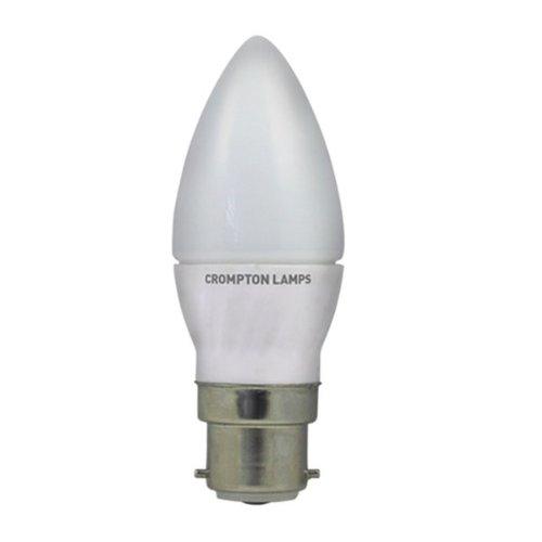 Crompton vela LED 4W B22d luz blanca cálida opal