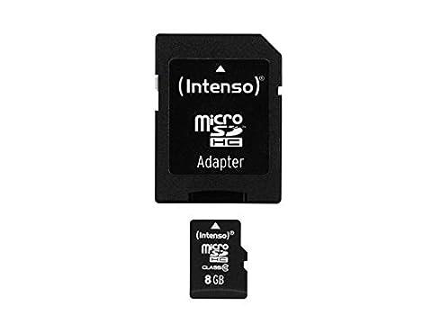 Speicherkarte Intenso 8 GB Micro SDHC Class 10 für Nintendo DS Lite Modul
