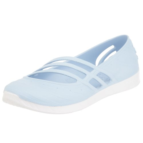 Womens adidas adidas QT Comfort Jelly Shoe in Sky Blue - UK...