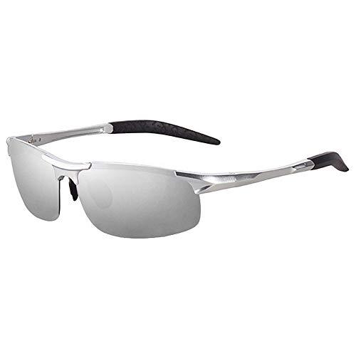 Preisvergleich Produktbild Sonnenbrille Herren Polarisierte Sonnenbrille Rahmenlose Sportreise Fahren Unbreakable Aluminium Magnesium Metal,  A7