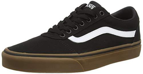 Vans Ward, Sneakers Basses Homme  Noir ((Canvas) Black/Gum 7Hi) 44 EU