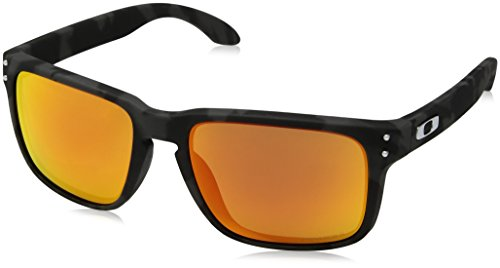 Oakley Herren Holbrook 9102e9 Sonnenbrille, Braun (Black Camo), 57