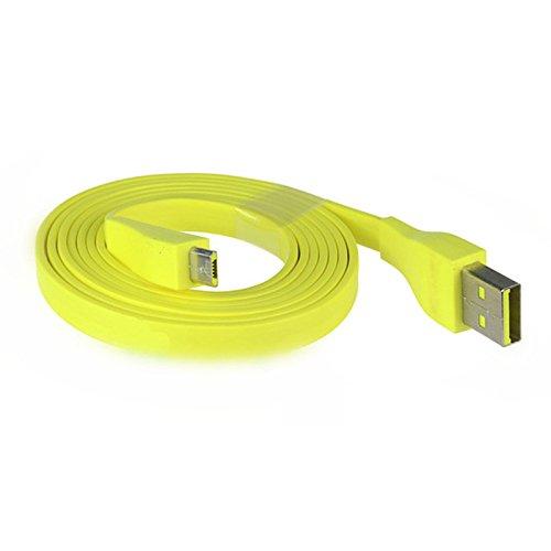 Preisvergleich Produktbild ROUHO 1.2 M Gelbes Micro-USB-Ladekabel Für Logitech Ue Boom Bluetooth Speaker
