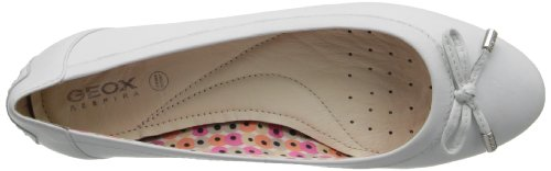 GEOX D32Y7A00085C9999 Donna Mocassino Bianco (C1000 WHITE)