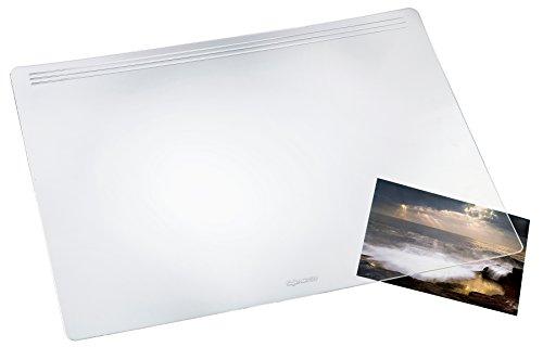 Läufer 32600 Matton transparent glasklar Schreibtischunterlage, Schreibunterlage 39x60 cm für besonders hohen Schreibkomfort