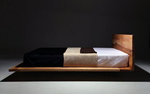 MAZZIVO Mood Hochwertiges Holz Bett Schlicht & Zeitlos filigran Modern Edel & Elegant - Italienisches Design 120 140 160 180 200 Überlänge Eiche Erle Buche Esche Kirschbaum (Esche, 140 x 200 cm) -