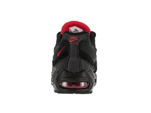 Nike Air Max 95 Essential, Chaussures de Sport Homme, Gris Noir (noir (noir / rouge défi - blanc))