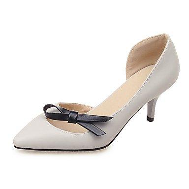 Moda Donna Sandali Sexy donna tacchi Primavera / Estate / Autunno / Inverno tacchi / Punta Office & Carriera / abito / Casual Stiletto Heel Bowknot beige